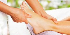 Price List - Lymphatic drainage massage - foot being massaged