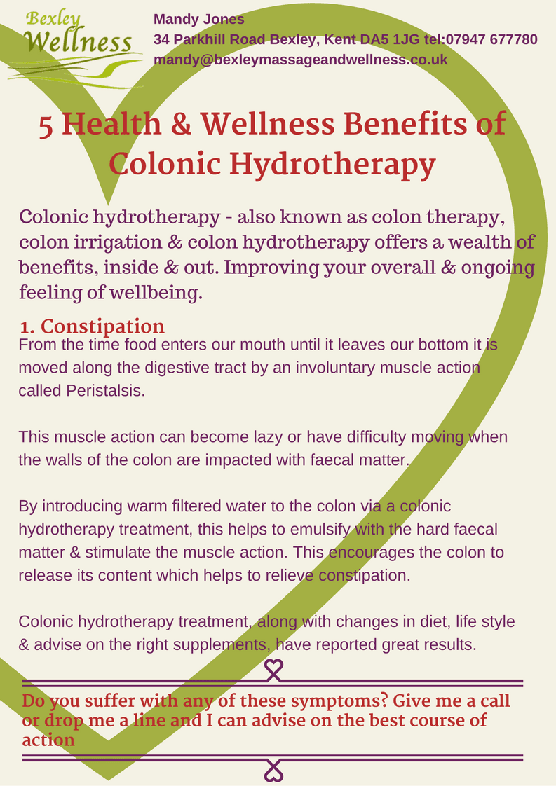 Colonic Hydrotherapy Benefits - Constipation