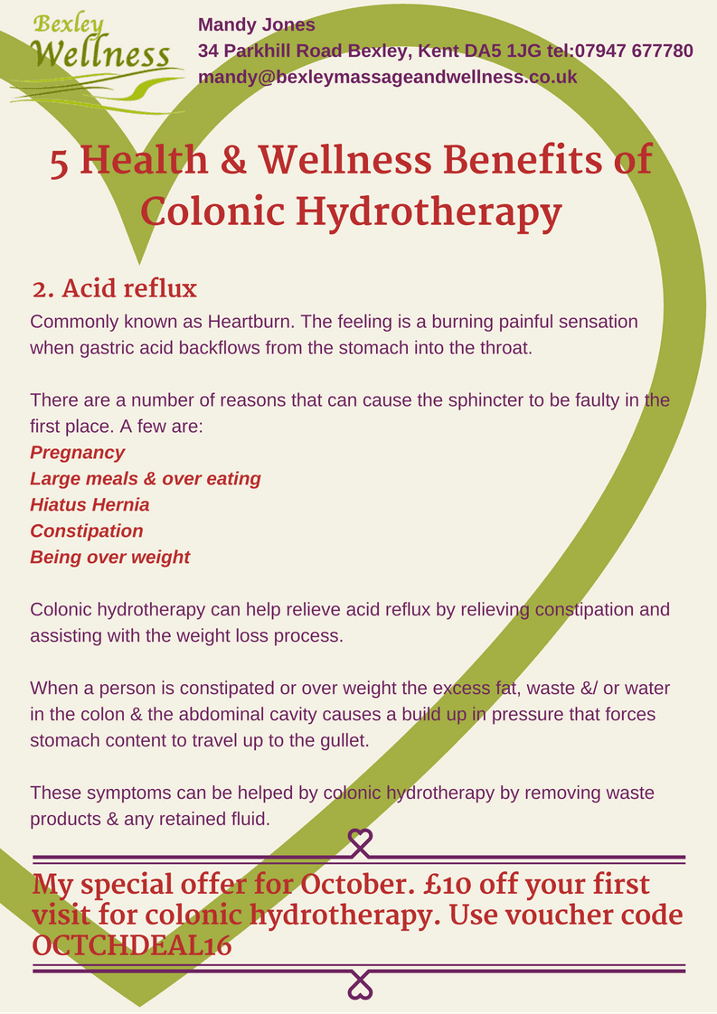 Colonic Hydrotherapy Benefits - Acid reflux