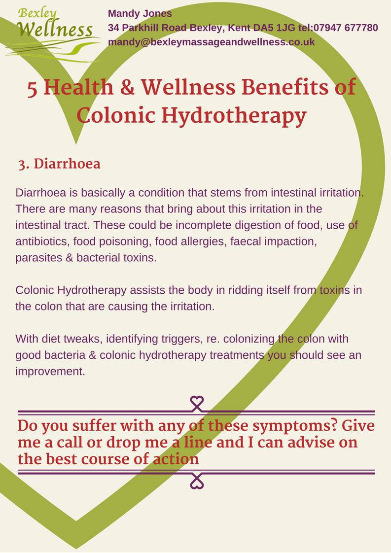 Colonic Hydrotherapy Benefits - Diarrhoea