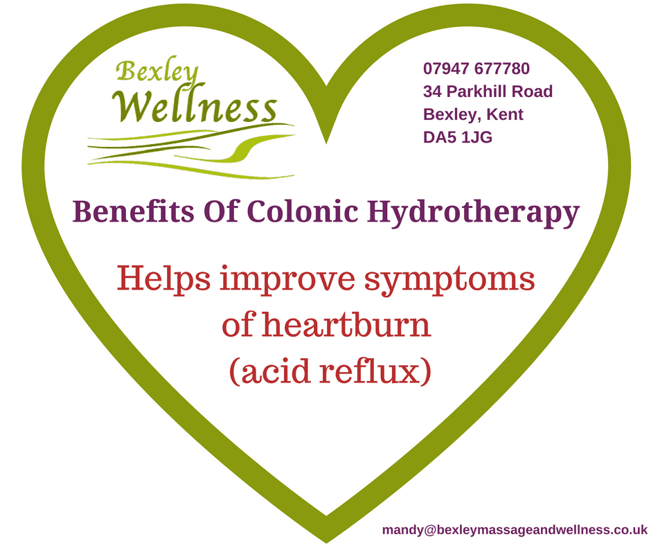 Benefits of Colonic Hydrotherapy - heartburn (acid reflux)